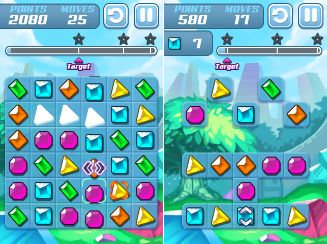 Gem Slide Two Level Types